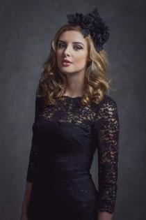 wedding photo - Silk dupion rose headpiece