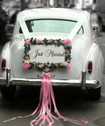 wedding photo - Wedding Car Decorations