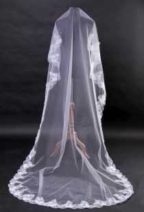 wedding photo - Lace MANTILLA Bridal Veil