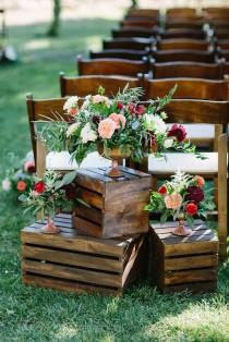 wedding photo - How To Use Wooden Crates Wedding Ideas At Rustic Weddings