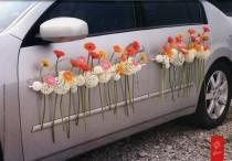 wedding photo - Decoración Para El Coche De Novios - Yo Digo Si, Wedding Planner Madrid