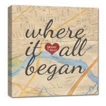 wedding photo - Custom Map Canvas Art YOUR Location Where It All Began Gift For Couples