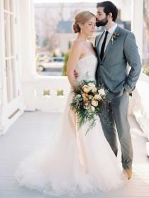 wedding photo - Blackberry   Mint Winter Wedding Inspiration