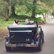 wedding photo - Elegant Wedding Car, Meghan & Murray's Real Wedding - Real Wedding Image