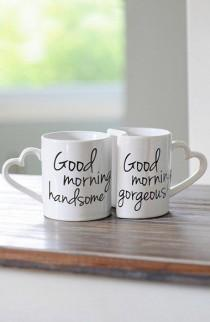 wedding photo - Nordstrom - CATHY'S CONCEPTS 'Good Morning' Ceramic Coffee Mugs (Set Of 2)