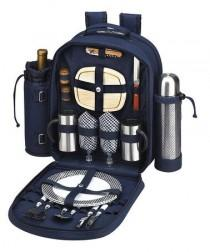 wedding photo - Picnic At Ascot Navy Two-Person Coffee & Picnic Backpack Set