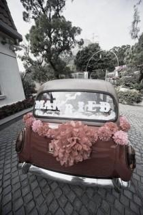 wedding photo - JUST MARRIED Sign For Your Getaway Car Customizable