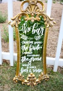 wedding photo - How To Use Mirror Signs At Your Wedding