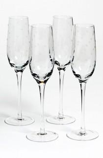 wedding photo - 'larabee Dot' Champagne Flutes