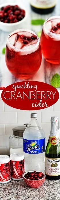 wedding photo - Sparkling Cranberry Cider