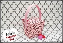 wedding photo - Tutorial Time: Make A Fabric Takeout Box