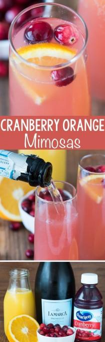 wedding photo - Cranberry Orange Mimosa Bellini
