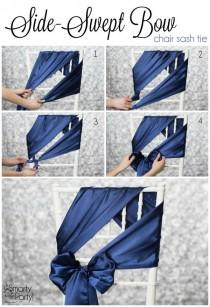 wedding photo - 20 Creative DIY Wedding Chair Ideas With Satin Sash