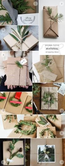 wedding photo - 40 Brown Paper Gift Wrapping Ideas