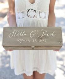 wedding photo - Morgann Hill Designs Cedar Personalized Wine Keepsake Box