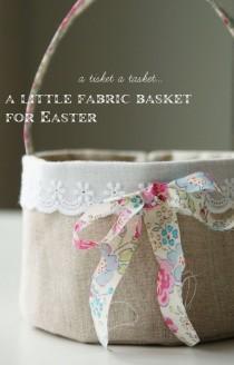 wedding photo - Linen Easter Basket - Free Tutorial