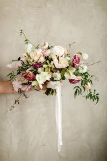wedding photo - Enchanting Wedding Flowers In Peach And Plum