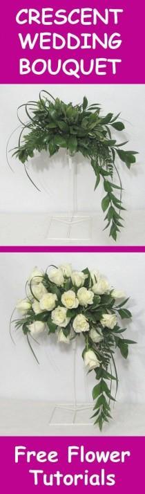 wedding photo - Fresh Flower Wedding Bouquet - Easy DIY Flower Tutorials