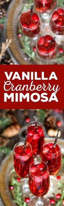 wedding photo - Vanilla Cranberry Mimosa