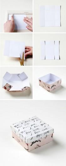 wedding photo - SIMPLE DIY GIFT BOX.