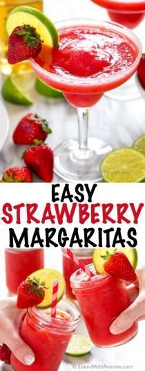 wedding photo - Easy Strawberry Margaritas