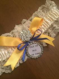 wedding photo - Beauty and the Beast Garter