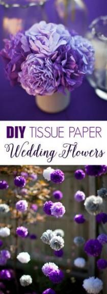 wedding photo - DIY Tissue Paper Flowers