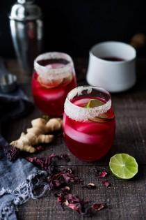 wedding photo - Hibiscus Margaritas With Ginger And Clove