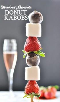 wedding photo - Strawberry Chocolate Donut Kabobs