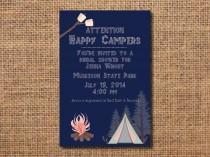 wedding photo - camping invitation, invitation for bridal shower camping, glamping shower, glamping party