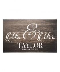 wedding photo - Solart Design 'Mr. & Mrs.' Personalized Canvas