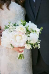 wedding photo - Romantic Wedding Fluffed with Peonies and Sequins - Belle The Magazine