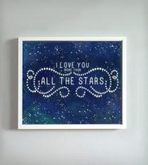 wedding photo - All The Stars Print