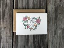 wedding photo - Baby Shower Thank You Cards, Bridal Shower Thank You Cards, Shower Thank You Card Set