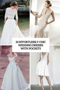 wedding photo - 30 Effortlessly Chic Wedding Dresses With Pockets - Weddingomania