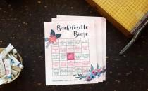 wedding photo - Bachelorette Bingo Download. Bachelorette Party Game. Printable Party Game. Bachelorette Party. Pink and Blue. One last Fling. Bride to Be