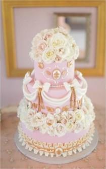 wedding photo - Pink Wedding Cake - Wedding Inspirations