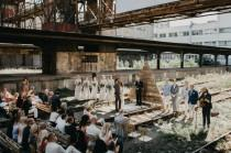 wedding photo - Boho Industrial Wedding At An Abandoned Train Station - Weddingomania