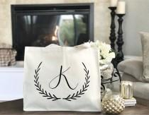 wedding photo - Bridesmaid Gift, Bridesmaid Tote Bag, Bridal Party Totes, Bridesmaid Tote Bag, Wedding Bag, Bridal Tote, Bridesmaid Bag