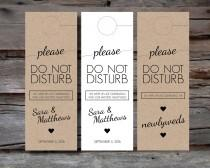 wedding photo - Wedding Door Hangers for Guest Hotel Welcome Bag - Printable