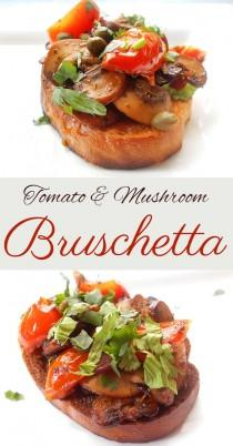 wedding photo - Mushroom Bruschetta With Tomatoes