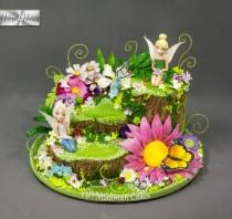 wedding photo - Tinker Bell Flower Cake