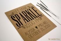 wedding photo - Sparkler Send Off Sign - Personalized Printable Let Love Sparkle Wedding Sign - Rustic Wedding - Sparkler Sign - AA2