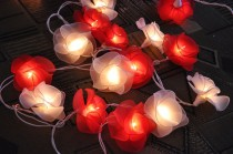 wedding photo - Sweet Love tones flower string lights for Patio,Wedding,Party and Decoration (20 bulbs)