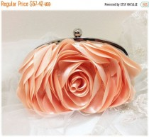 wedding photo - Wedding clutch, bridesmaid clutch, blush bag, blush clutch, pink clutch, bridal evening bag, formal bag, formal clutch, pearl clutch