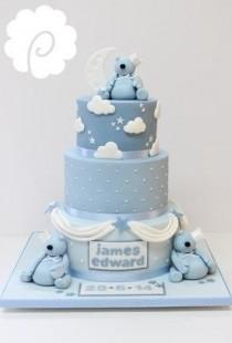 wedding photo - Blue Bears - Cake By Poppy Pickering - CakesDecor