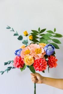 wedding photo - Felt Flower Bouquet (Tropical/Weddings)