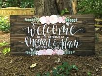 wedding photo - Wedding Welcome Sign