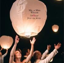 wedding photo - Just Married Sky Lantern (justmarried.ve)