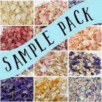 wedding photo - Sample Pack - Pick up to 5 Samples - Luxury Dried Delphinium Petal Wedding Confetti eco-friendly biodegradable, Try before you buy!